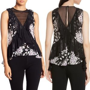 NWT Cinq a Sept Silk Simone Top